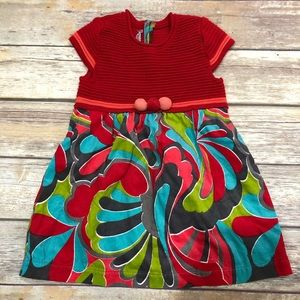 Clayeux red cord dress